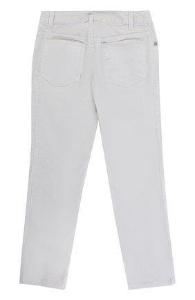 Хлопковые брюки прямого кроя | Фото №2