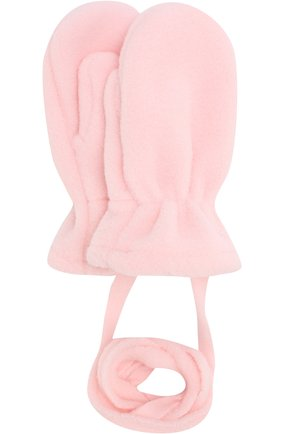 Детские варежки из полиэстера CATYA розового цвета, арт. 721517   Фото 1