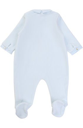 Детский хлопковый комбинезон с оборками и вышивкой TARTINE ET CHOCOLAT голубого цвета, арт. TK54011 | Фото 2