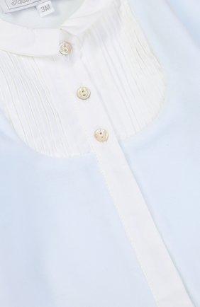Детский хлопковый комбинезон со вставкой из полиэстера TARTINE ET CHOCOLAT голубого цвета, арт. TK54081 | Фото 3