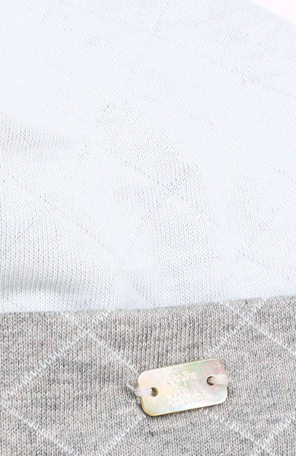 Детского хлопковая шапка с отворотом TARTINE ET CHOCOLAT голубого цвета, арт. TK90171 | Фото 3
