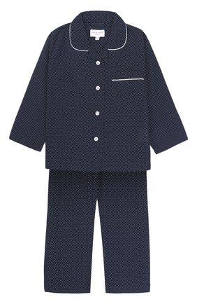 Детская хлопковая пижама с принтом DEREK ROSE синего цвета, арт. 7006-PLAZ021/3-12 | Фото 1