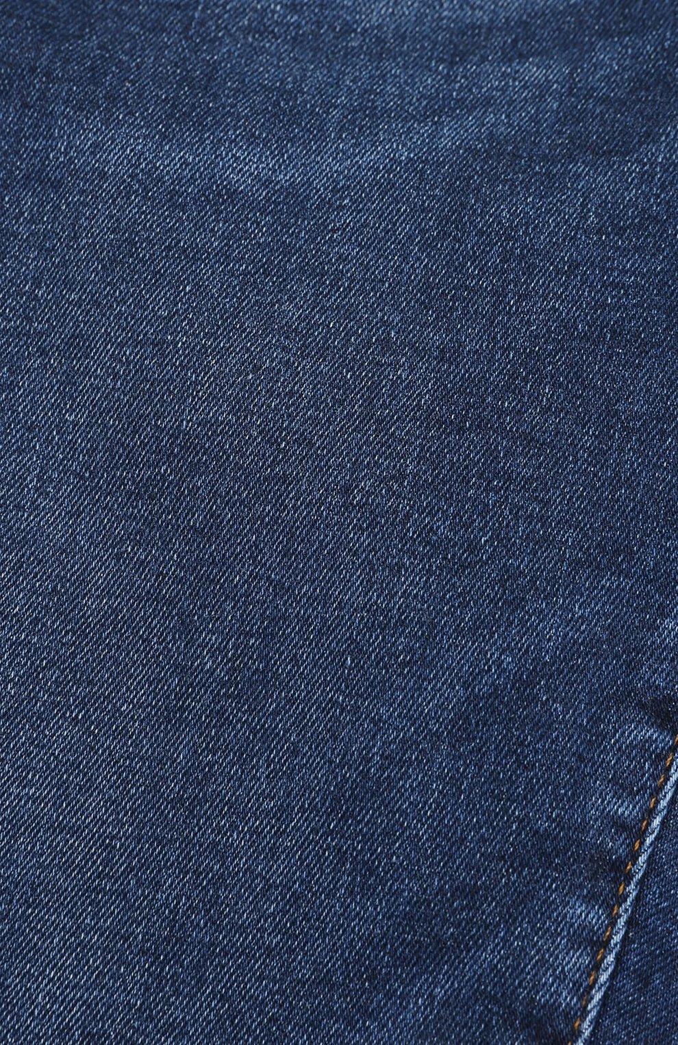 Джинсы с эластичными манжетами и нашивкой Dolce & Gabbana синего цвета | Фото №3