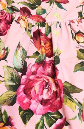 Комплект из платья и трусов с принтом Dolce & Gabbana розового цвета | Фото №5