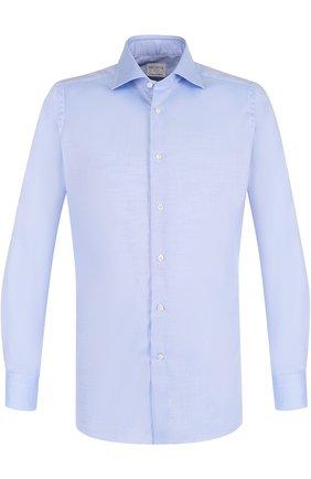 Хлопковая приталенная сорочка с воротником кент | Фото №1