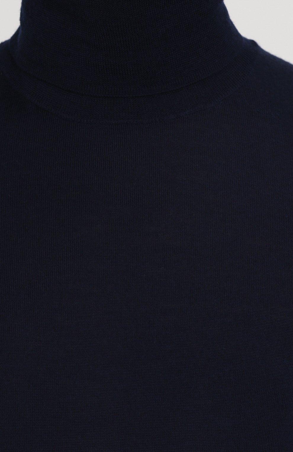 Шерстяная однотонная водолазка   Фото №5