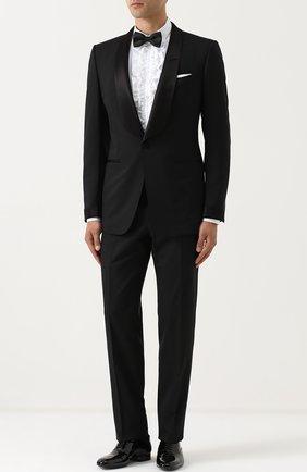 Сорочка из смеси хлопка и шелка с рюшами Dolce & Gabbana белая | Фото №2