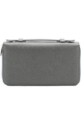 Кожаный футляр для документов Dolce & Gabbana темно-зеленого цвета | Фото №1