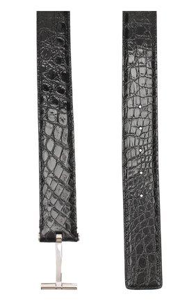 Ремень из кожи каймана с металлической пряжкой | Фото №2