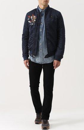 Мужские джинсы прямого кроя PAIGE черного цвета, арт. M655521-2139 | Фото 2