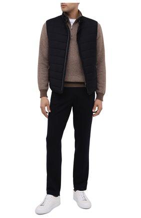 Мужской шерстяные брюки Z ZEGNA темно-синего цвета, арт. V8475/ZZTP60   Фото 2