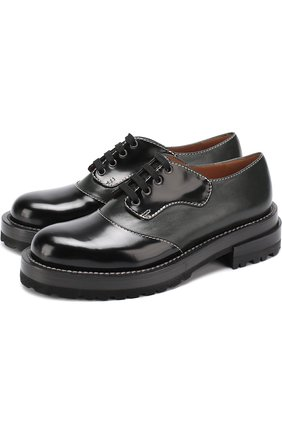Кожаные дерби на шнуровке