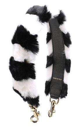 Ремень для сумки с отделкой из меха кролика | Фото №1