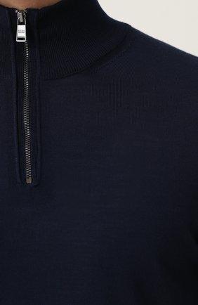 Шерстяной джемпер с воротником-стойкой   Фото №5