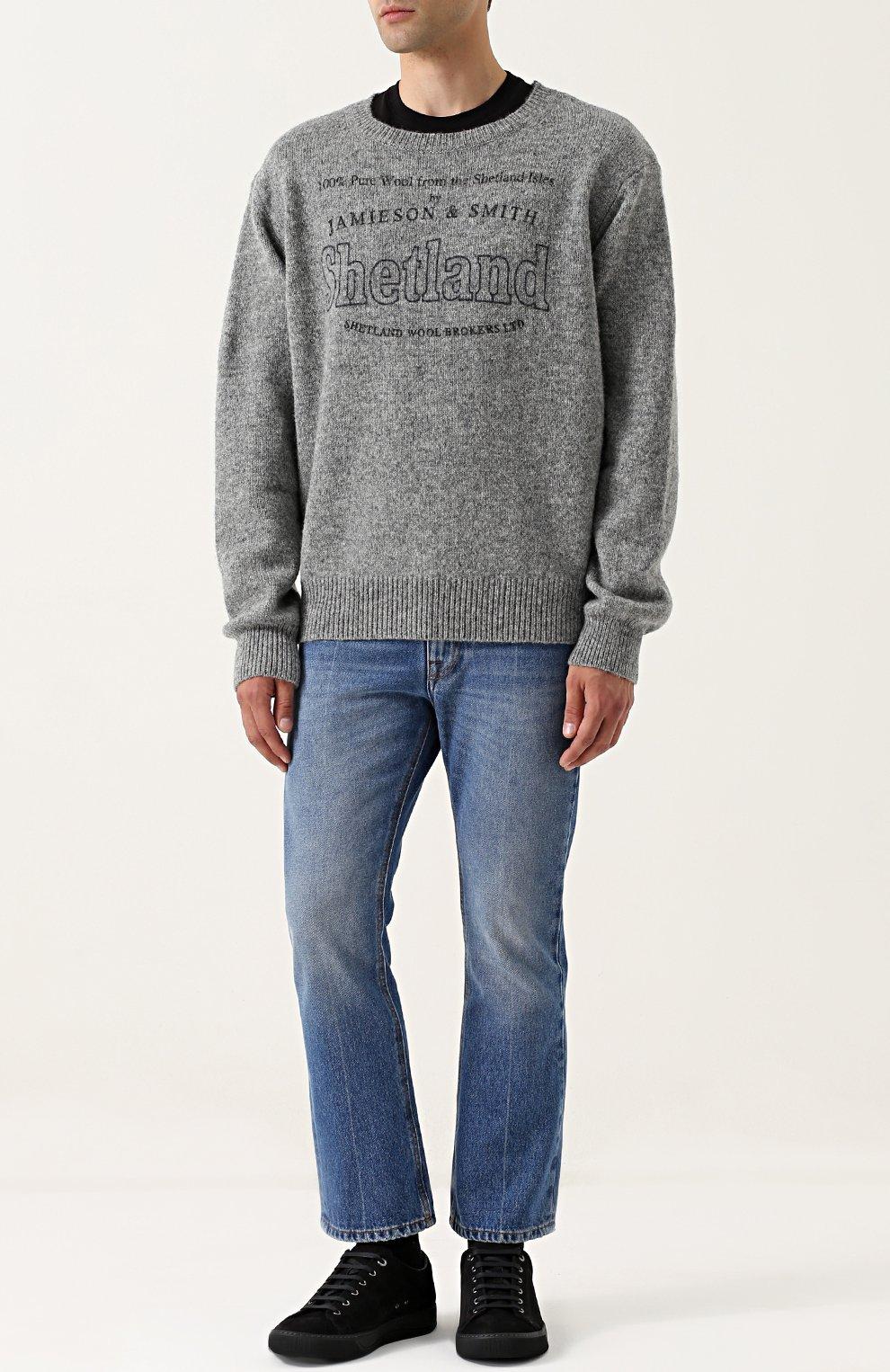 Шерстяной пуловер с принтом | Фото №2