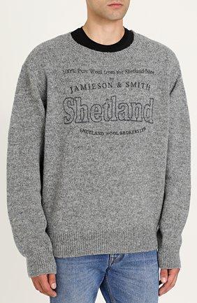 Шерстяной пуловер с принтом | Фото №3