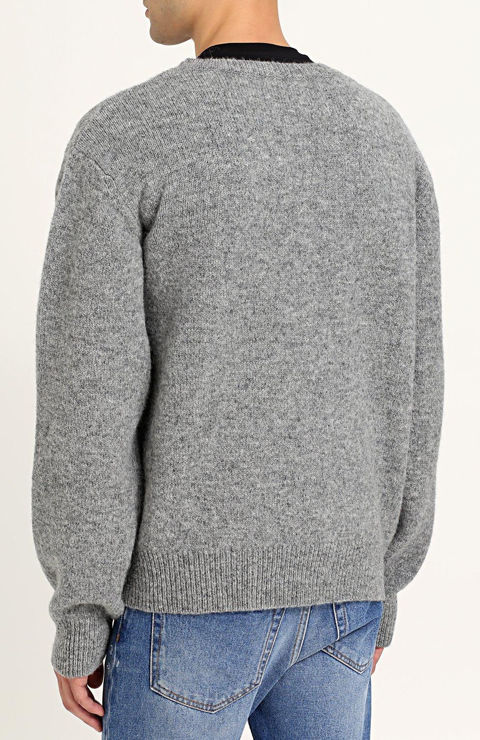Шерстяной пуловер с принтом | Фото №4