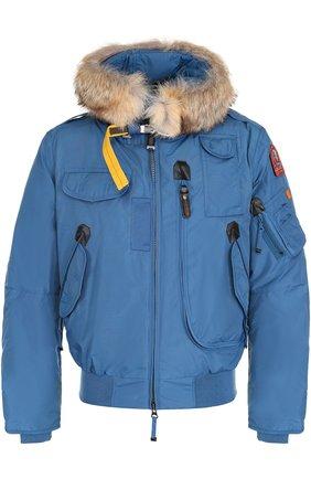 Укороченная куртка Gobi с меховой отделкой капюшона | Фото №1