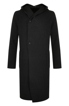 Шерстяное пальто с капюшоном   Фото №1