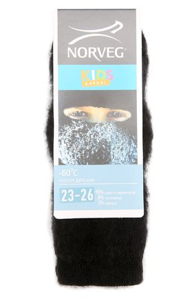 Детские термоноски -60 NORVEG черного цвета, арт. 9TSURU | Фото 1
