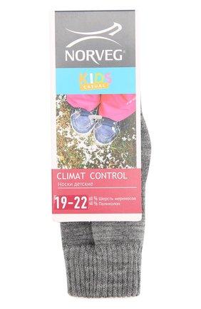 Детские термоноски climate control NORVEG серого цвета, арт. 9CCURU | Фото 1