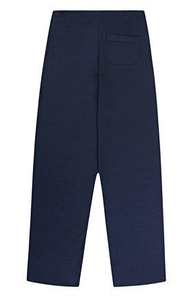 Детские брюки прямого кроя из вискозы DEREK ROSE синего цвета, арт. 7250-BASE001/13-16   Фото 2