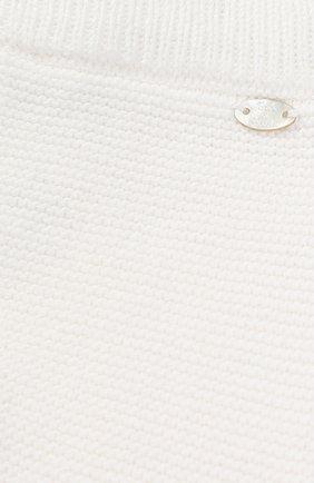 Брюки фактурной вязки из хлопка и кашемира с фигурной отделкой | Фото №3