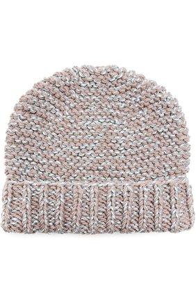 Вязаная шапка с отворотом | Фото №1