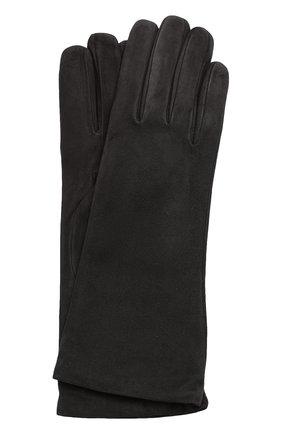 Замшевые перчатки Sermoneta Gloves черные   Фото №1