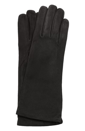Замшевые перчатки Sermoneta Gloves темно-серые | Фото №1