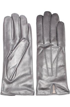 Кожаные перчатки Sermoneta Gloves темно-серые | Фото №1