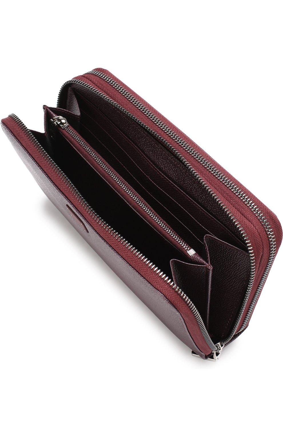 Кожаный футляр для документов Dolce & Gabbana бордового цвета | Фото №3