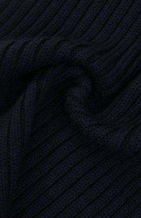 Шерстяной шарф фактурной вязки Woolrich темно-синий | Фото №1