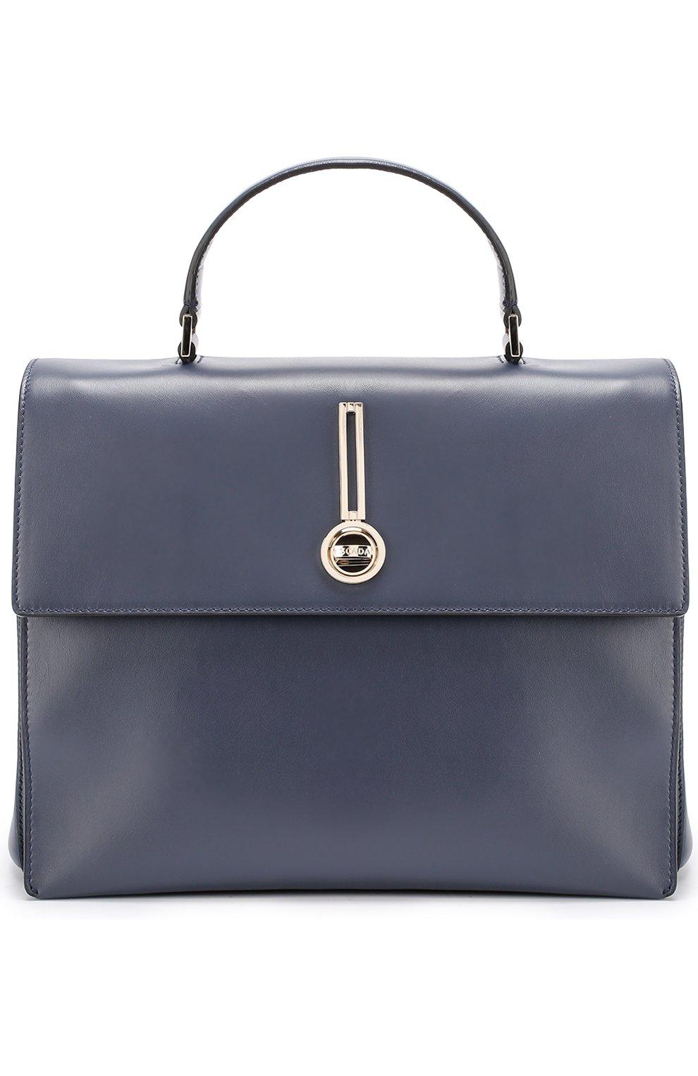 39864bfe816a Фото Женская кожаная сумка с металлической отделкой ESCADA темно-синяя  цвета Италия 5186330 5025318