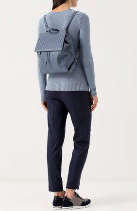 Кожаный рюкзак с плетением intrecciato | Фото №2
