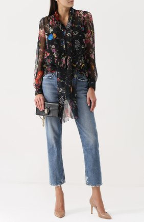 Клатч Lucia на цепочке Dolce & Gabbana черного цвета | Фото №2