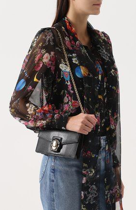 Клатч Lucia на цепочке Dolce & Gabbana черного цвета | Фото №5