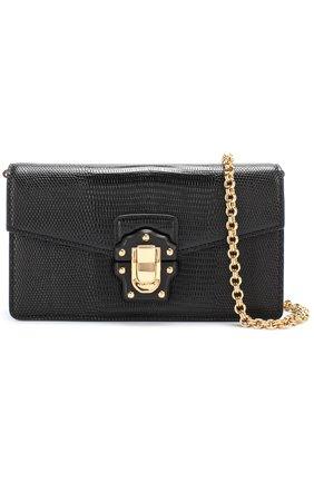 Клатч Lucia на цепочке Dolce & Gabbana черного цвета | Фото №6