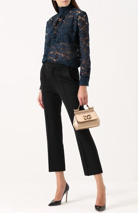 Сумка Sicily micro с брошью Dolce & Gabbana золотая цвета   Фото №2