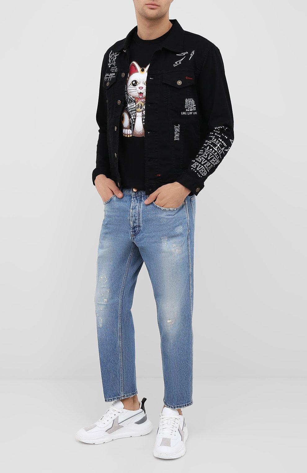 Мужская хлопковая футболка DOM REBEL черного цвета, арт. LUCKY/T-SHIRT   Фото 2