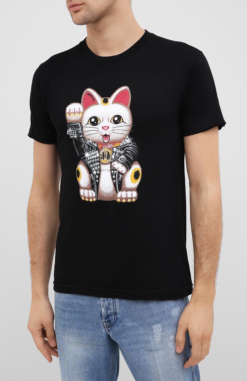 Мужская хлопковая футболка DOM REBEL черного цвета, арт. LUCKY/T-SHIRT   Фото 3