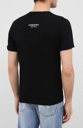 Мужская хлопковая футболка DOM REBEL черного цвета, арт. LUCKY/T-SHIRT   Фото 4