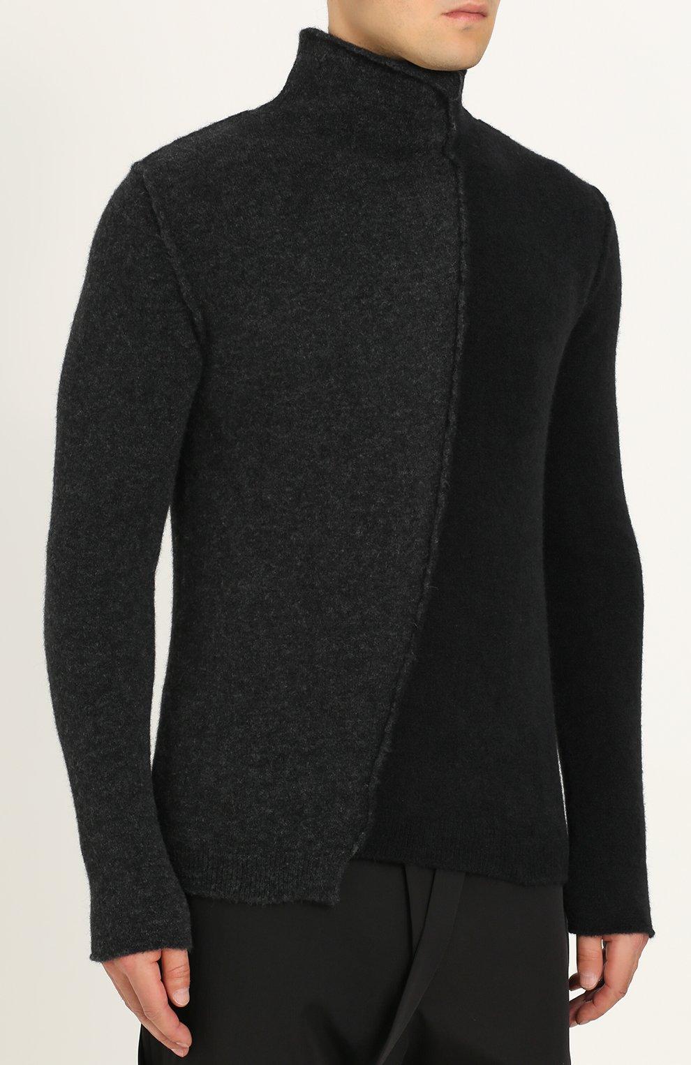 Шерстяной свитер прямого кроя | Фото №3