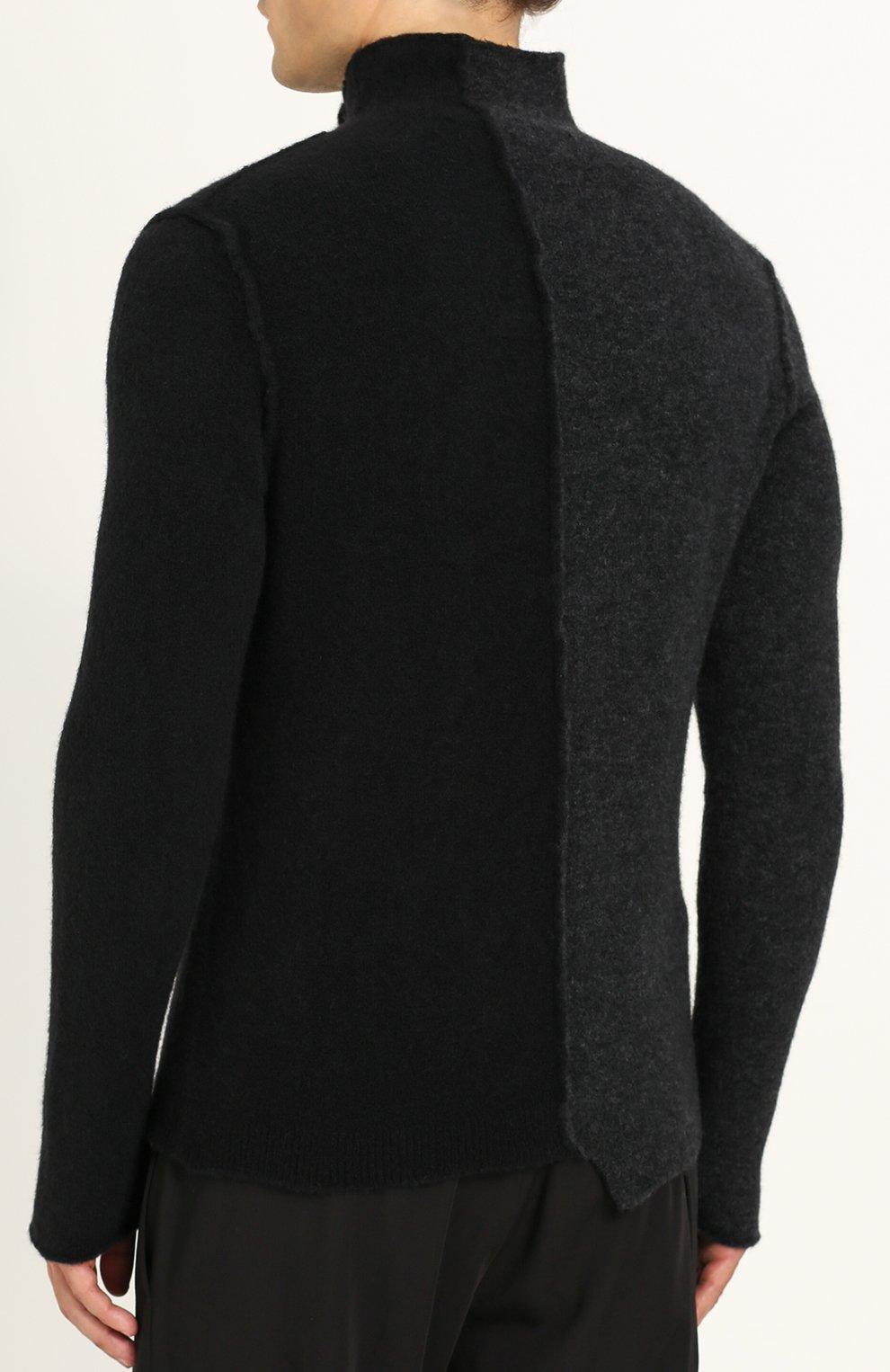 Шерстяной свитер прямого кроя | Фото №4