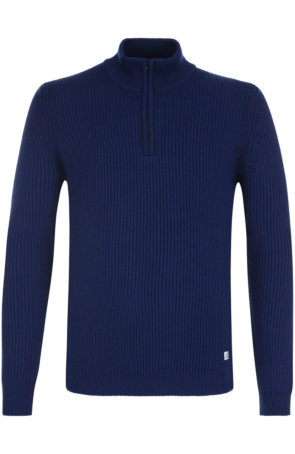 Шерстяной свитер с воротником на молнии | Фото №1