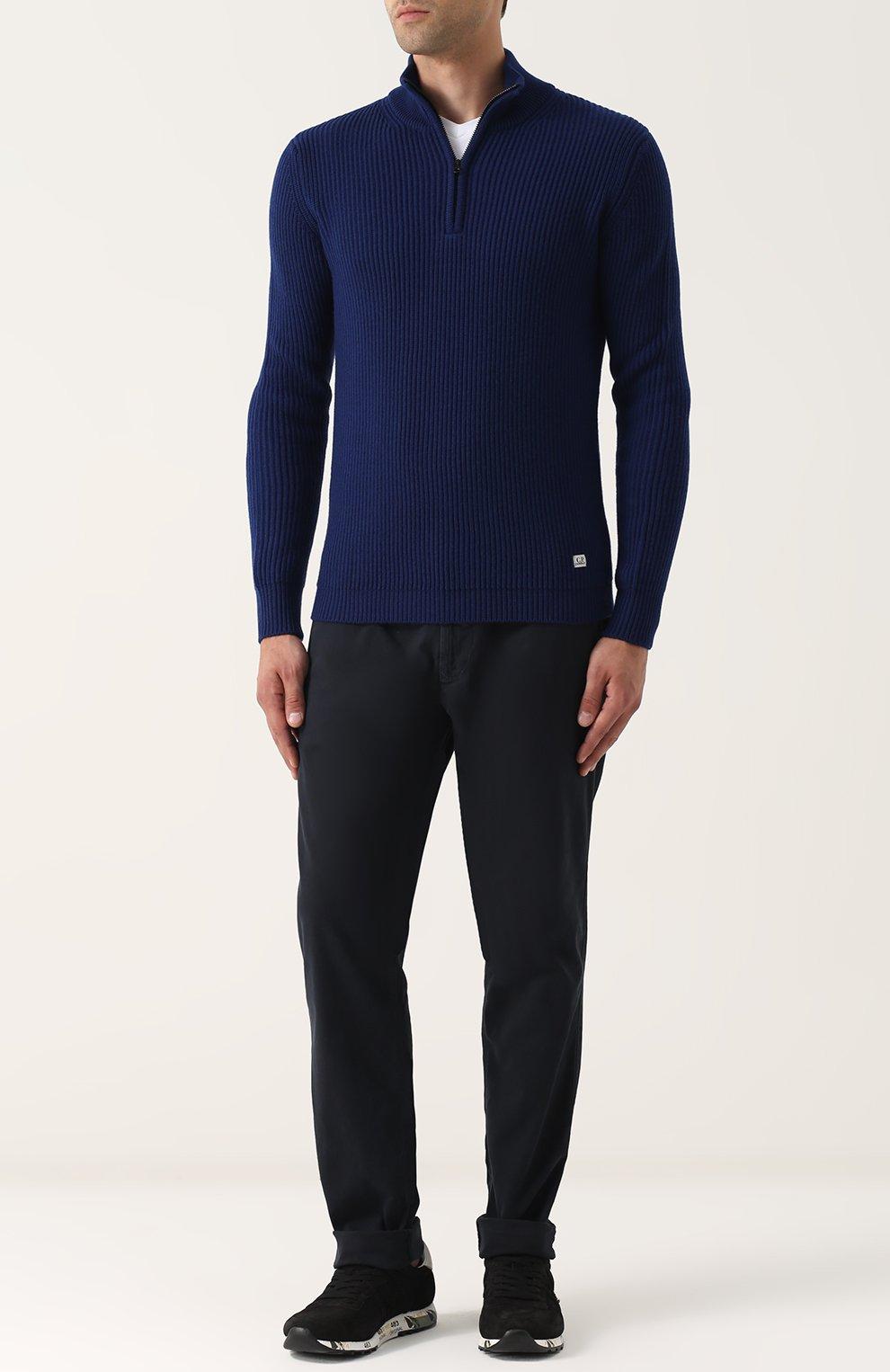 Шерстяной свитер с воротником на молнии | Фото №2