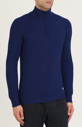 Шерстяной свитер с воротником на молнии | Фото №3