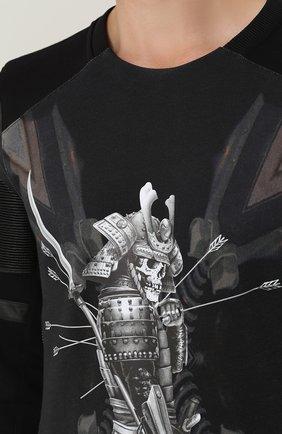 Хлопковый свитшот с принтом   Фото №5