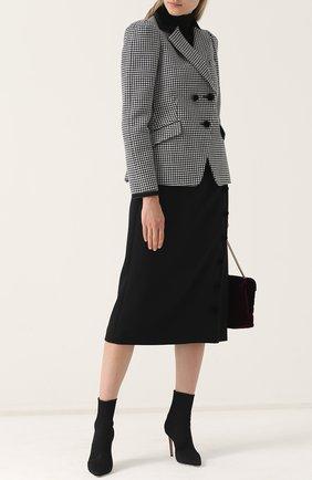 Шерстяная юбка-миди Altuzarra черная   Фото №1