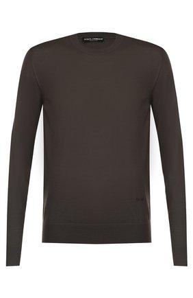 Джемпер из шерсти тонкой вязки Dolce & Gabbana темно-серый | Фото №1